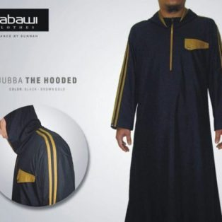 Jubah Nabawi The Hooded Hitam Lengan Panjang