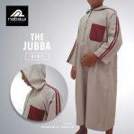 Baju Gamis Jubah Lengan Panjang Anak Hoodie Coklat