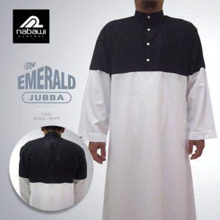 Baju Jubah Model Saudi Pria EMERALD Series Dengan Kancing